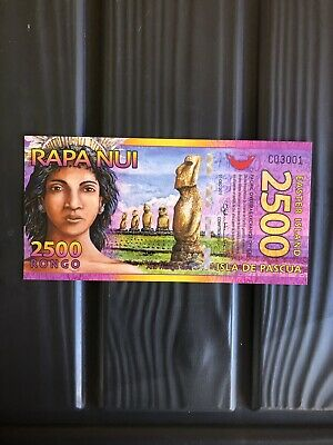 Rare,2011,2500 Rongo,Easter Island,(Antartica) Banknote.(Unc).