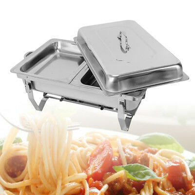 7.5L Chafing Dish Set Buffet Food Warmer Stainless Steel 55.7*34*38.3cm DE Stock