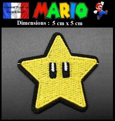 Écusson Brodé Thermocollant NEUF ( Patch Embroidered ) - Etoile Star Mario