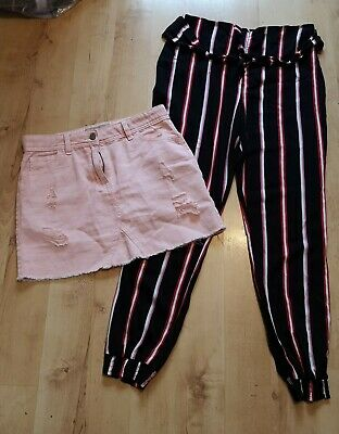 Pink Short Skirt And Striped Trousers Size 12-13 Years Next