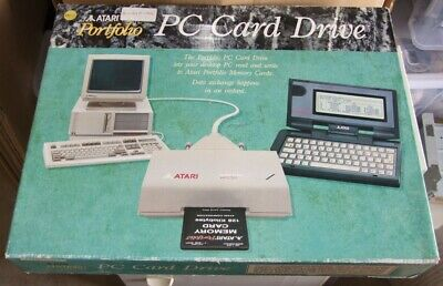 Atari Portfolio PC Card Drive NOS unused in original box