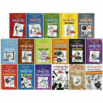 Diary of a Wimpy Kid The Ultimate Complete 17 Books Set Collection Jeff Kinney