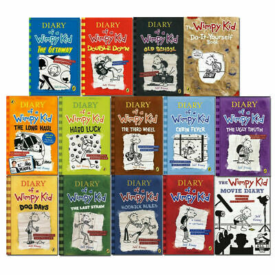 Diary of a Wimpy Kid 14 Books Set by Jeff Kinney Dog Days,Movie Diary,Hard Luck