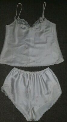 Vintage Warner's Satin Lace Lingerie Set Camisole French Knicker Pantie Size 14