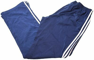 ADIDAS Boys Tracksuit Trousers 15-16 Years Blue Polyester  EH09
