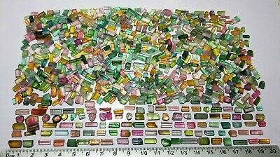 620 Ct Mix Color Tourmaline Crystals Type Rough Lot  From Afghanistan