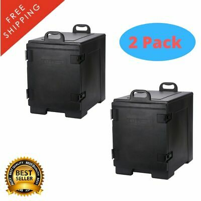 2 Pack Insulated Food Pan Carrier Box Commercial Catering Chafing Dish Hot Cold