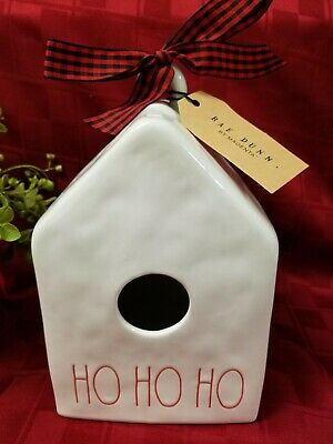 """New"" 2019 Rae Dunn By Magenta Christmas Holiday ""HO HO HO"" Birdhouse"