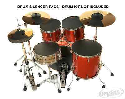 RockSolid Drums Silencer/Mute Practice Pads - ROCK Sizes - 8 Pad Set