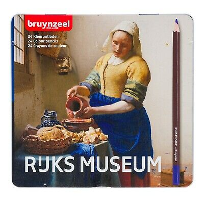 Bruynzeel Rijks Museum 24 Colour Pencils Vermeer Tin Set
