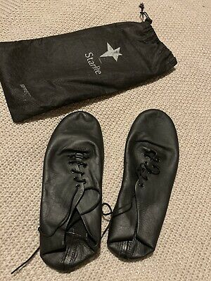 STARLITE Black Lace Up JAZZ SHOES. Size 8. Worn Once!!