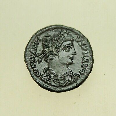 Constans (337-350 AD). AE Follis 16 mm, 2g  Siscia Mint Two Victory Nice patina