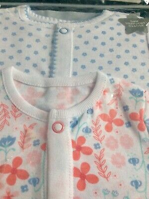 Brand new baby girls pack of 2 sleepsuits,  age 3-6 months