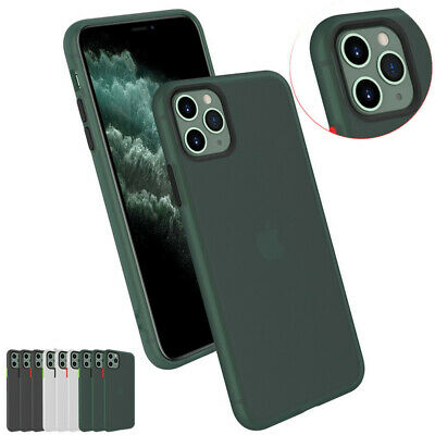 For Apple iPhone 11 Pro Max Xs XR 7 8 Plus Matte Bumper Hybrid Soft Case Cover