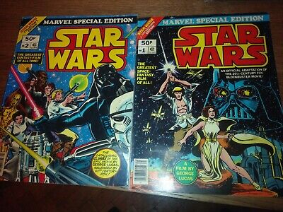 Star Wars Collectors Edition Number 1 And 2 1977