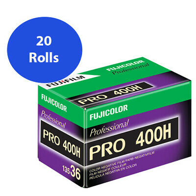 20 Rolls Fuji FujiColor Pro 400H Color Negative Film 35mm 36 exp. Fujifilm FRESH
