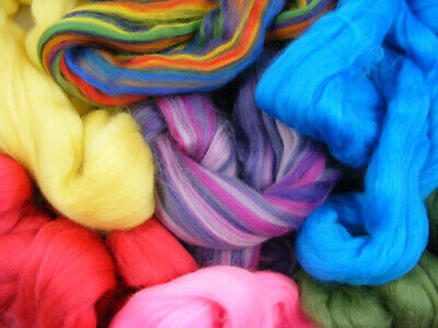 150g Merino Wool Offcuts Mixed Colours Dreads Needle Spinning Felting Roving