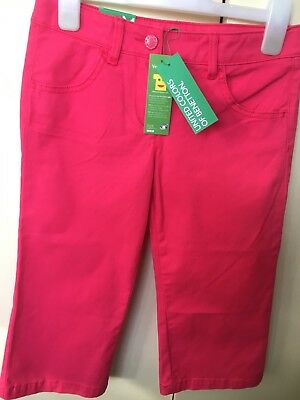 Pink 3/4 Length Jeans By ''UNITED COLORS OF BENETTON' - Age -7-8 Years -BNWT