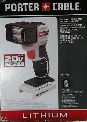 18 volt Bare Tool 68287 69652 New Drill Master 18v Pivoting LED Flashlight