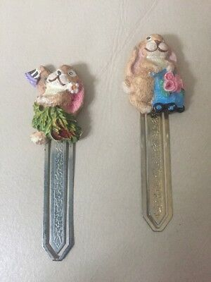 2 X Cute Bunny Page Markers