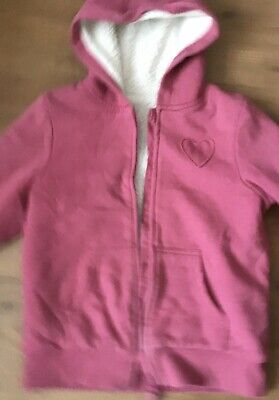 Girls Warm Hooded Jacket Top Size Age 10-11 Years Winter Fur Lined Nutmeg