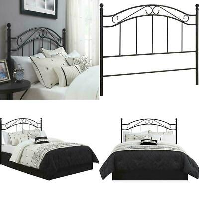 Mainstays Full/Queen Black Metal Headboard Curved Lines and Scrolled Metalwork