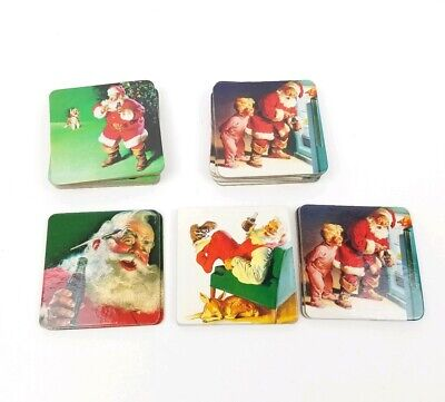 Santa Coke Collection Coasters 1999 EUC