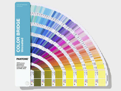Pantone Color Bridge Uncoated. Latest 2019 version with all 2139 colours
