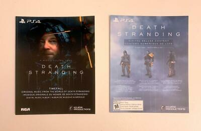 Death Stranding Digital Deluxe Content DLC Card only for PS4