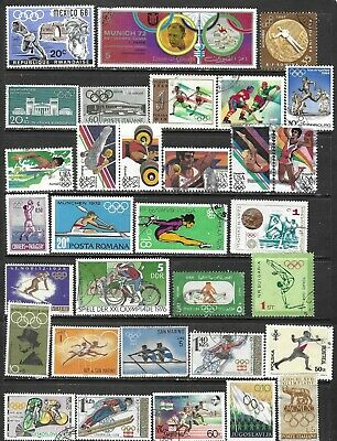 100 Worldwide Olympic Games  Stamps All Different Used