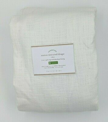 """BEIGE COLOR ~ 50/"""" X 108"""" ~ 4 AVAILABLE POTTERY BARN ~ EVERYDAY DRAPE IN FLAX"""