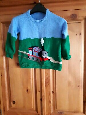 Thomas Tank Vintage hand knitted jumper 3/4 years