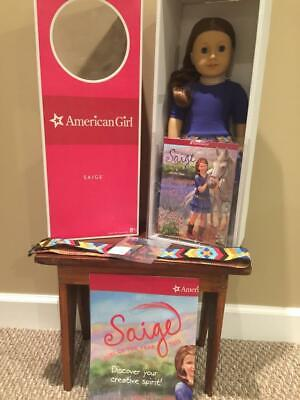 New In Box 2013 American Girl Doll Of The Year Saige+Book, Boots, Extras Retired