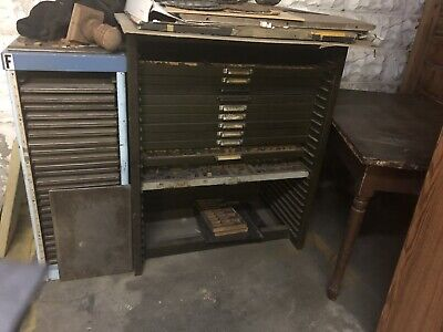 Letterpress Type Cabinet With 11 Fonts