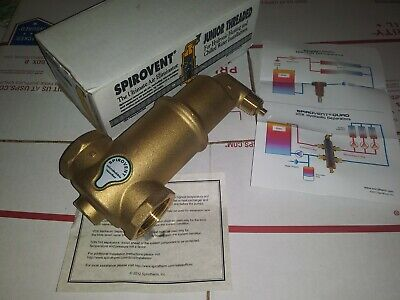 "Spiral Air Eliminator Micro Bubble Separator 1/"" Sweat  RaVent Jr"