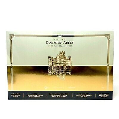 Downton Abbey The Complete Collector's Box Set Limited Edition PBS 22 Discs Bell