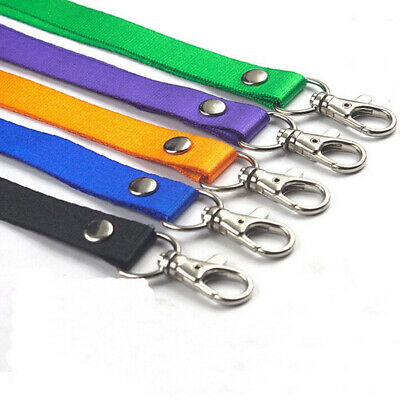 CANDY COLOR CARD HOLDER SLING NECK STRAP SWIVEL LOBSTER CLAPS LANYARD ID BADGE