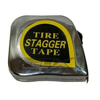 10' Racing Tire Stagger Tape Measure with Magnetic Back Chrome Plated Race