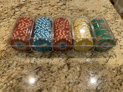 100 Chip Rack Lot Uncirculated Lighthouse Casino Resort Mixed Matsui Poker Chips