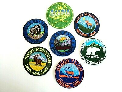 1x USA National Parks Souvenir Patches Embroidered Applique Badge Iron Sew On