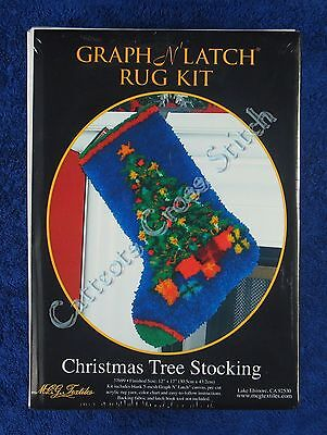 "Latch Hook Kit Christmas Tree Stocking Graph N' Latch MCG Textiles 12"" x 17"""