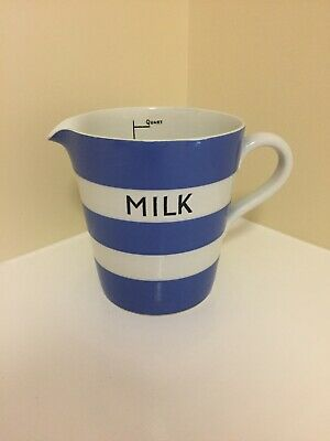 Vintage T.G. Green (stamped) Cornish Ware - Blue and White Stripped Jug