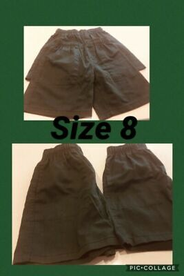 Green school formal shorts Size 8