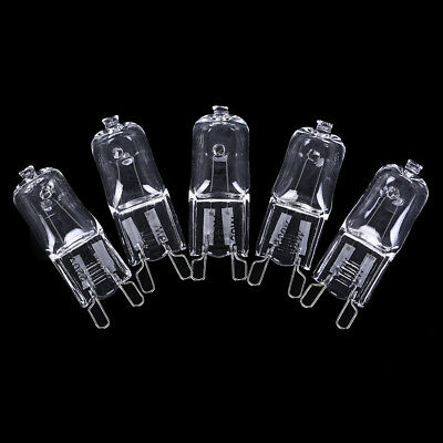 5x G9 Halogen Bulb 20/40/60W 220V Warm White For Wall Lamp Clear Glass EachIT ZH