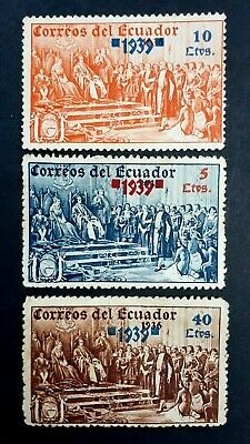 ECUADOR Old 1939 Overprinted MNH Stamps as Per Photo. Please Read Bellow