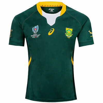 South Africa Rugby World Cup Home Shirt 2019 Rwc Adult Jersey Size S-3Xl