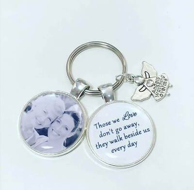 Personalised photo keyring memory bereavement lost loved one christmas gifts