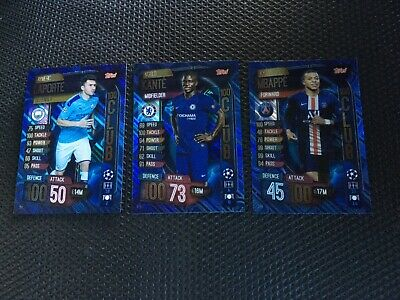 Topps Match Attax 19/20, Champions & Europa league, 100 club,Laporte,Kante,Mbapp