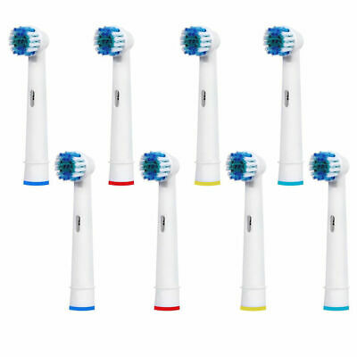 8 Pcs Electric Toothbrush Replacement Heads Fit For Oral B Braun Models Vitality