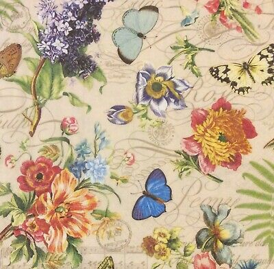 4 Paper Napkins for Decoupage / Parties / Wedding - Vintage Summer
